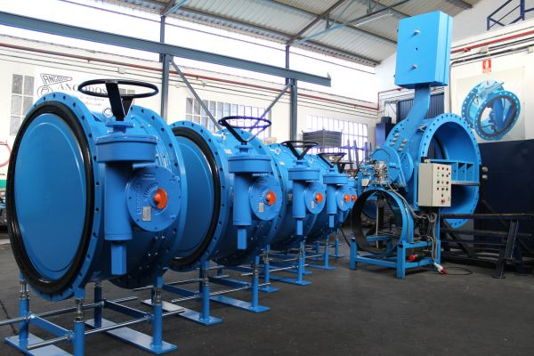 Butterfly valves with dismantling joint integrated DN1000 for Peru.